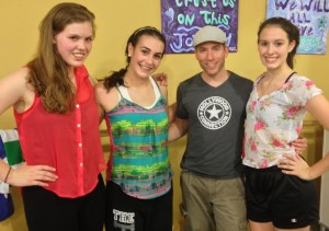 Students at the ARTistry Convention with tap instructor Jason Kalish.
