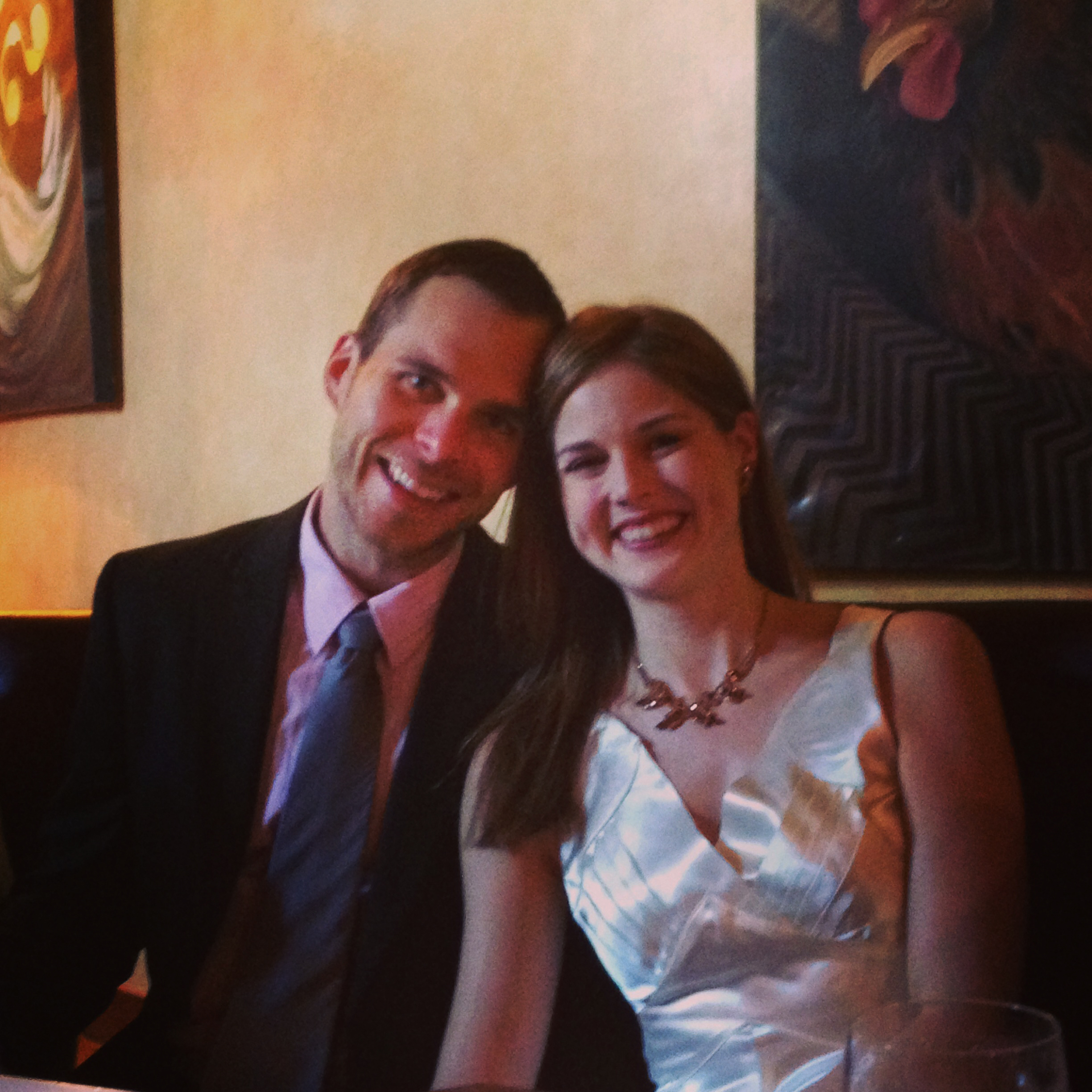 Jeremy & Charlotte at their rehearsal dinner!