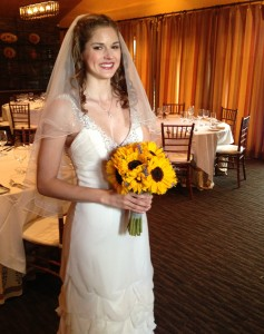 Ms. Charlotte looking beautiful before the wedding ceremony.